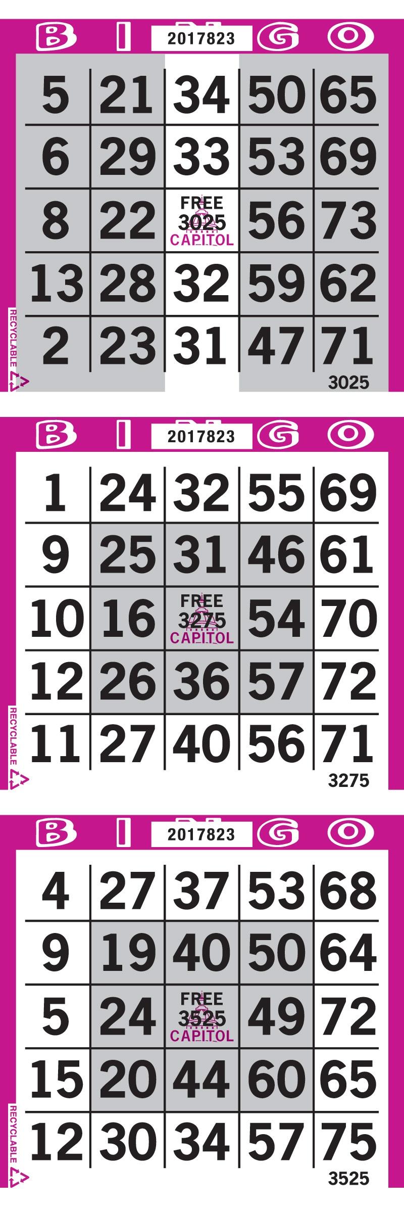 100 Pattern Bingo Paper