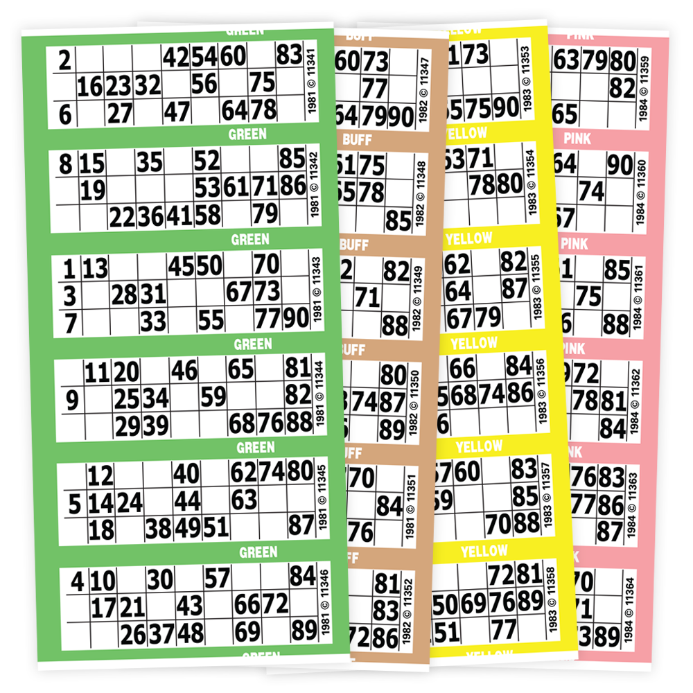 The Big Ticket 90 Number Bingo Paper