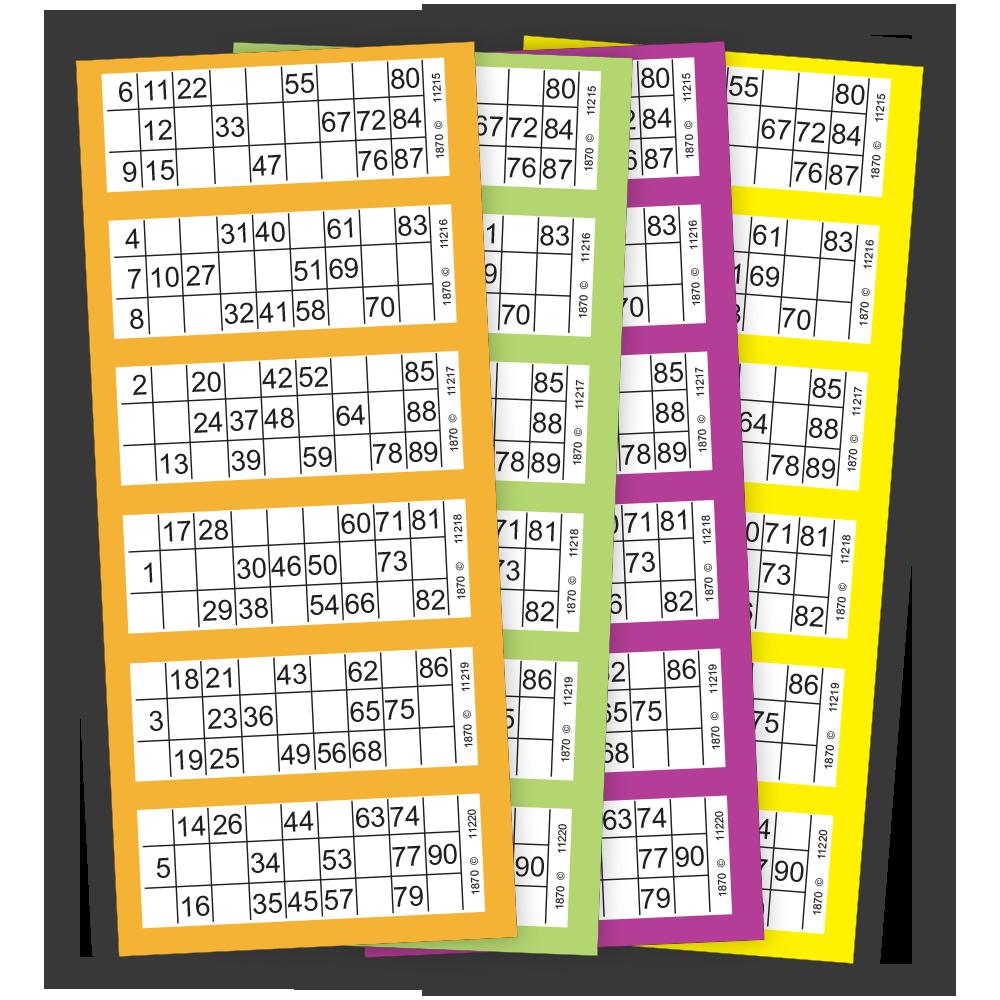 Classic 90 Number Bingo Paper