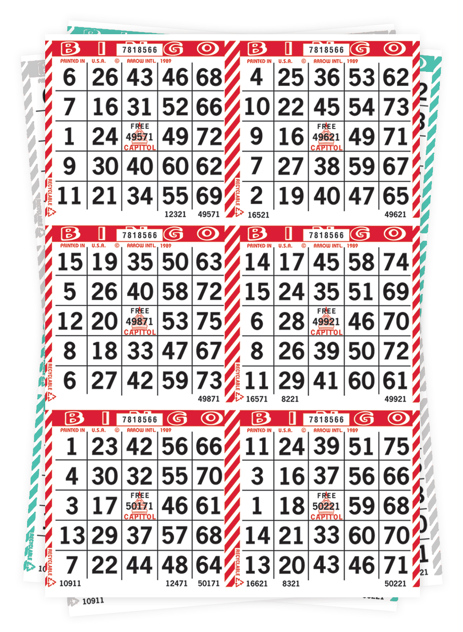 Barber Pole Bingo Paper
