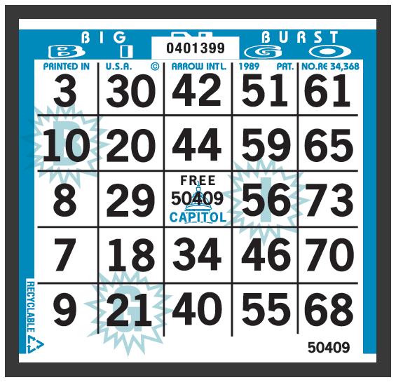 Big Burst Bingo Paper