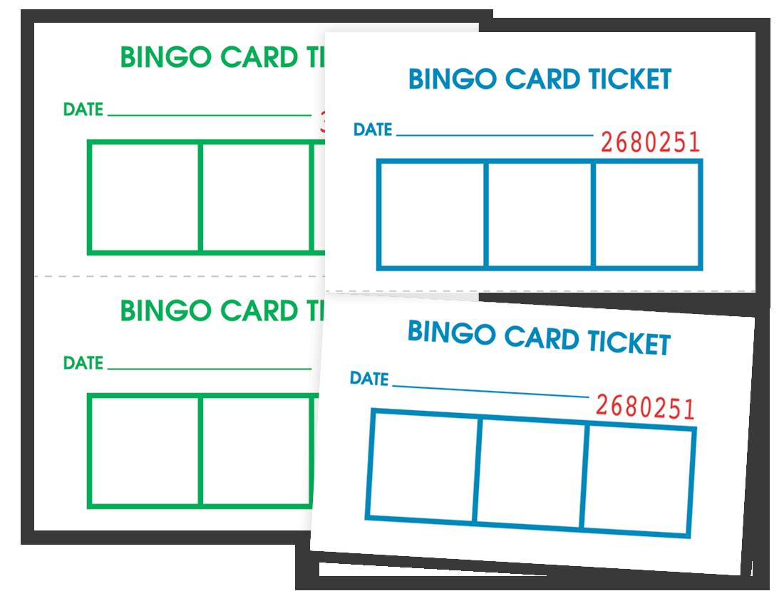 Bingo Card Admission Tickets