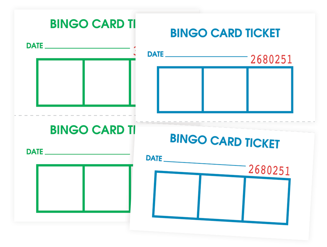 Bingo Card Admission Tickets