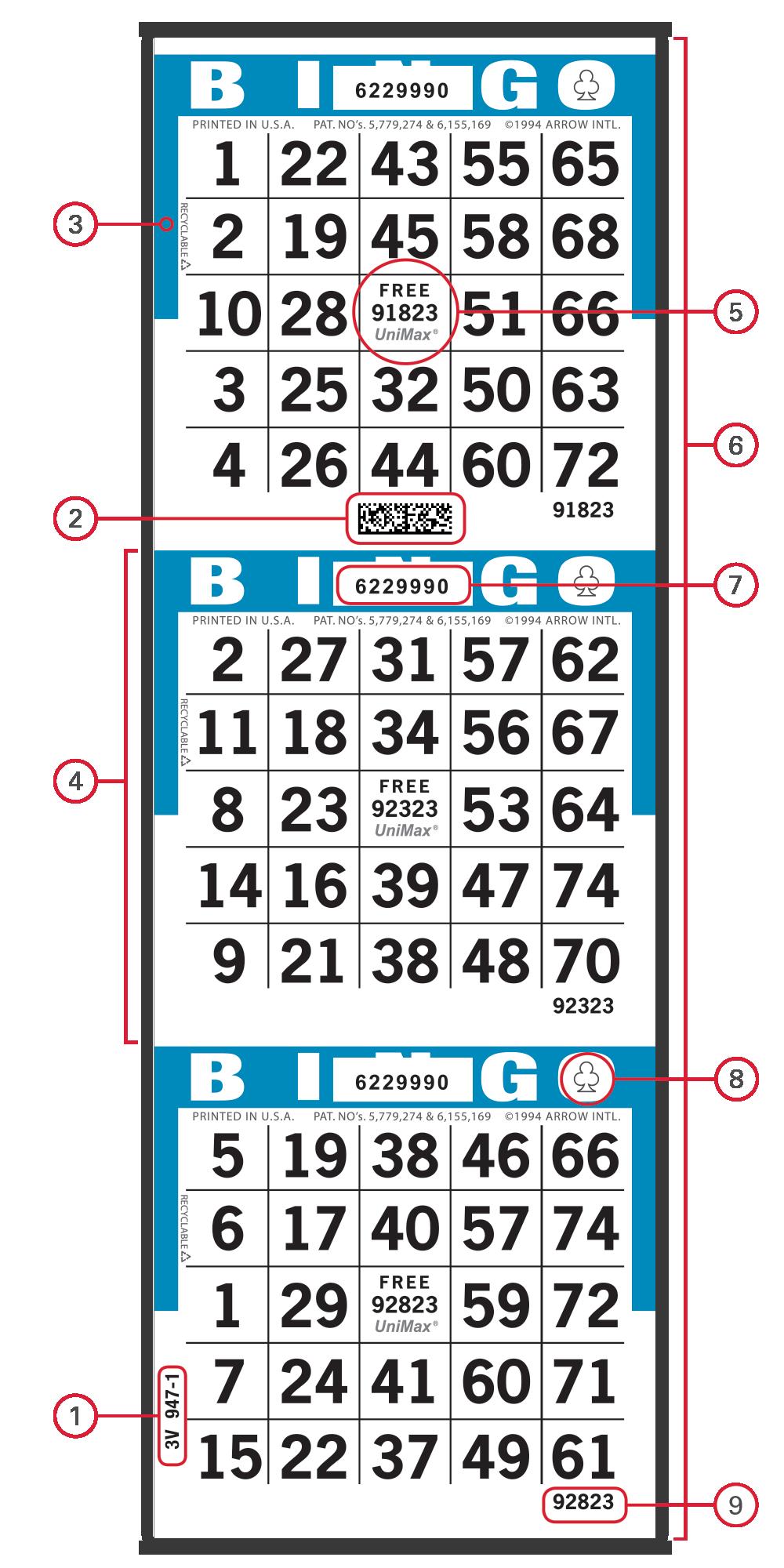UniMax Bingo Paper Face
