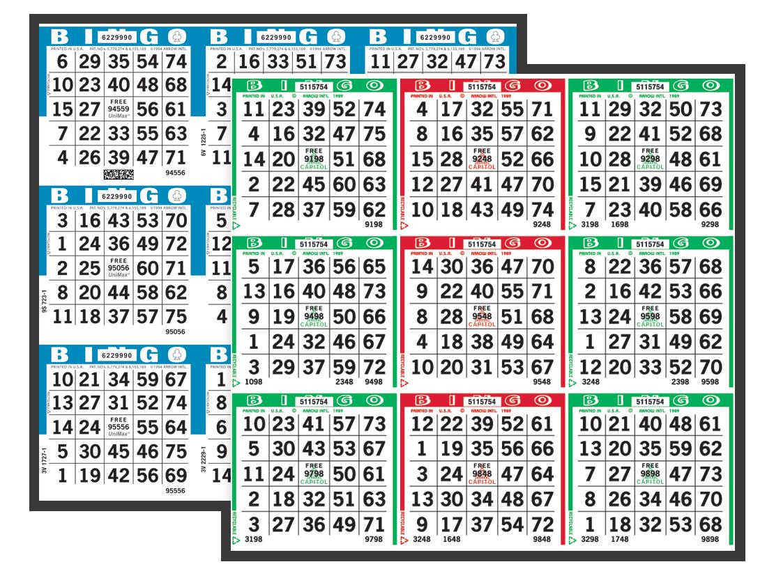 Capitol Double Spectrum Bingo Paper
