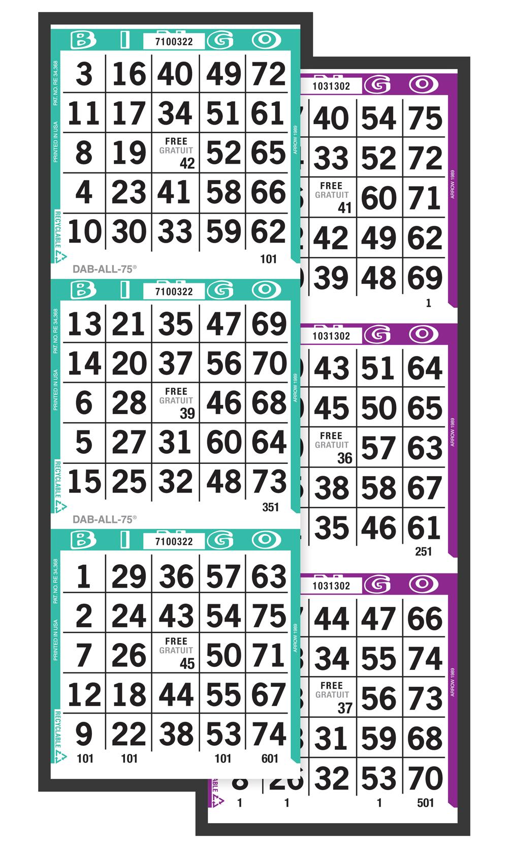 Dab-All-75 Bingo Paper
