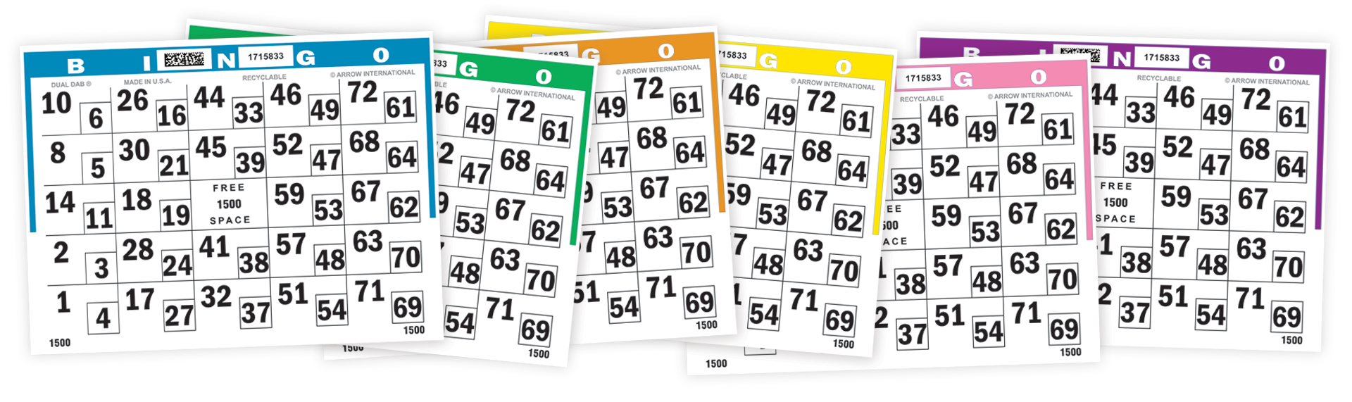 Dual Dab Bingo Paper