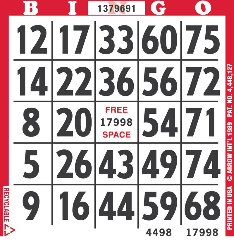 EZ Read Bingo Paper