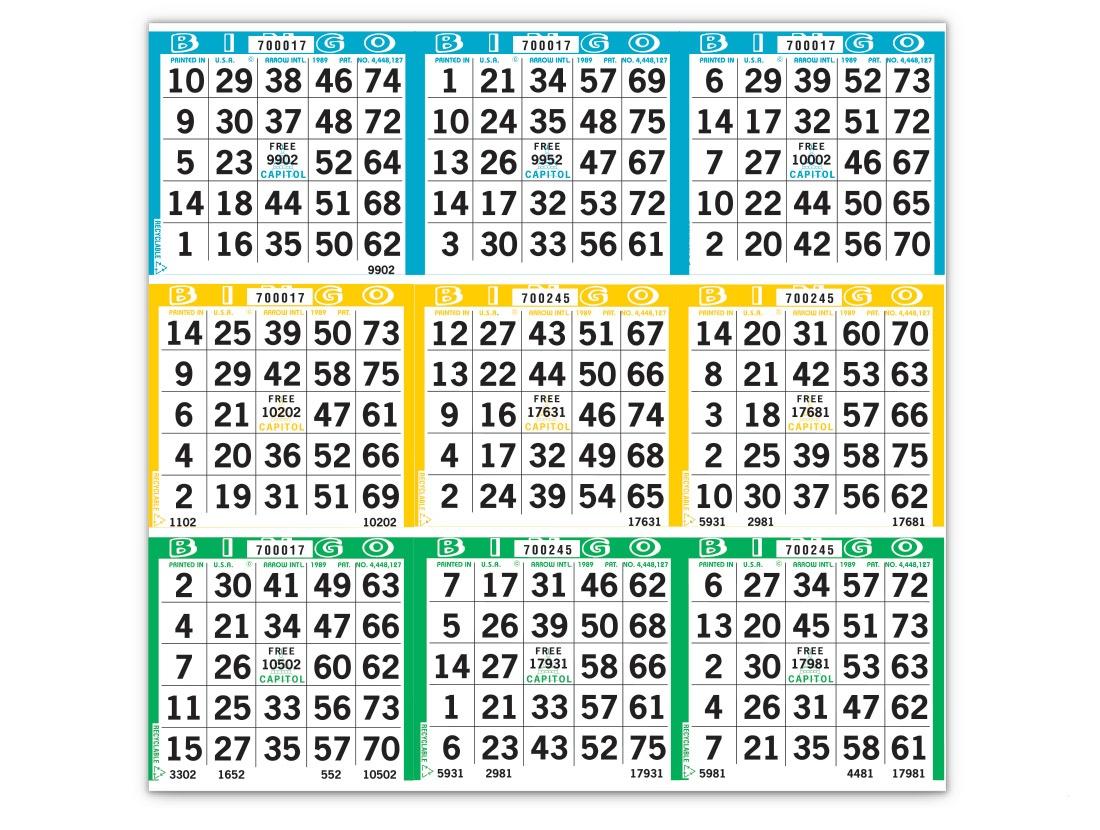 Horizon Bingo Paper Option 1