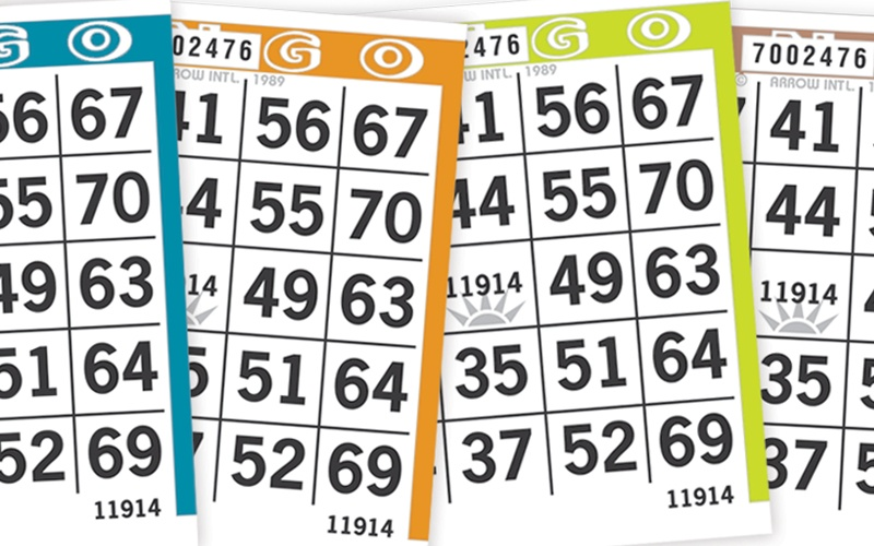 Sunrise Bingo Paper