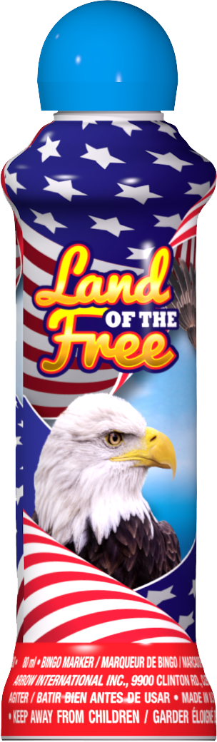 Land of the Free Patriotic Bingo Ink