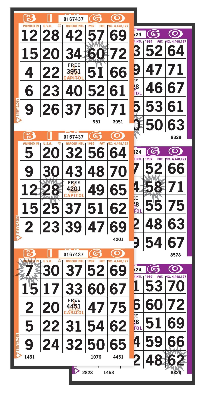 Starburst Bingo Paper