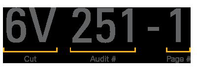 Auditrack Audit Number