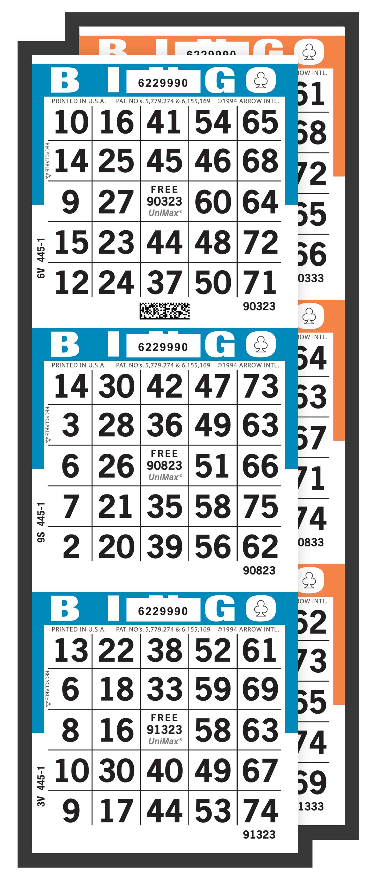 UniMax 3-On Bingo Paper