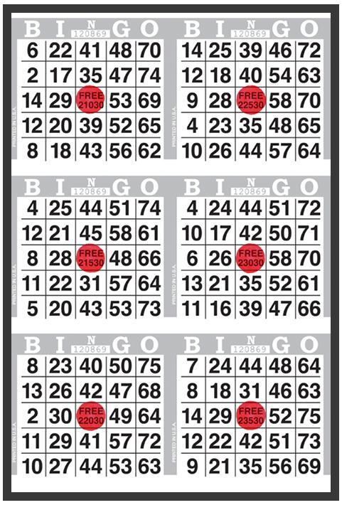 Competitor Bingo Paper