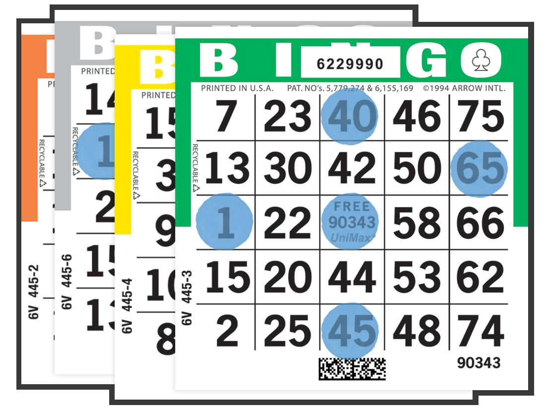 UniMax Player Preferred Bingo Paper